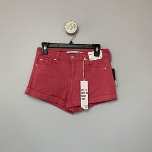 NWT Celebrity Pink Cuffed Denim Shorts Size 3/26